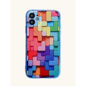 Colorful Tetris Pattern iPhone 12 Pro Max Case 💙